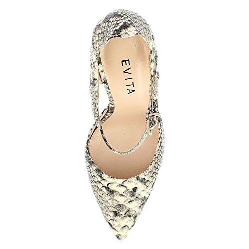 Evita Shoes Lisa - Zapatos de vestir de Piel para mujer gris