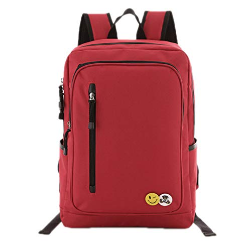 Waterproof Men's Bag Red 15 Laptop 6 Backpack USB 2Pcs dXgPwqRWw
