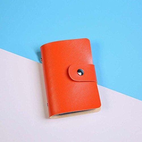 Resplend PU Leder-Kreditkarte Visitenkarte Inhaber-Etui-Karte 24-Bit-Kartenpaket Brieftasche Orange z7jpIq5OS