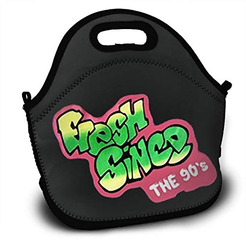 GE-furniture--FUG Fresh Prince of Bel-Air Fresh Out The 90's Concept Lunch Bag Tote Handbag Lunchbox Food Container Gourmet Tote Cooler Warm Pouch for School Work Office -