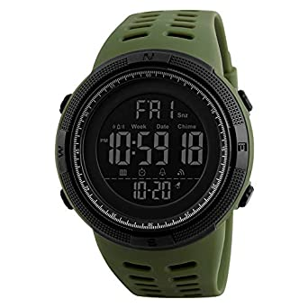 V2A Digital Waterproof Military Stopwatch Countdown Auto