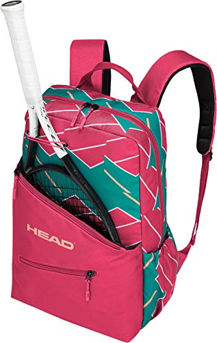 - HEAD-Women`s Tennis Backpack Pink and Green-(726424865598)