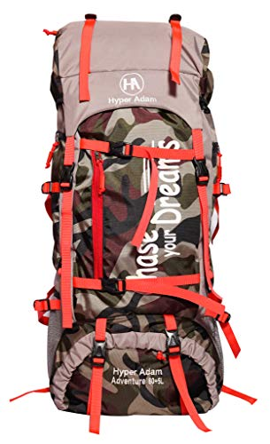 Hyper Adam 65 L Water Resistant Rucksack Hiking Backpack/Bag for Trekking/Camping/Travel/Outdoor Sport (Camo)
