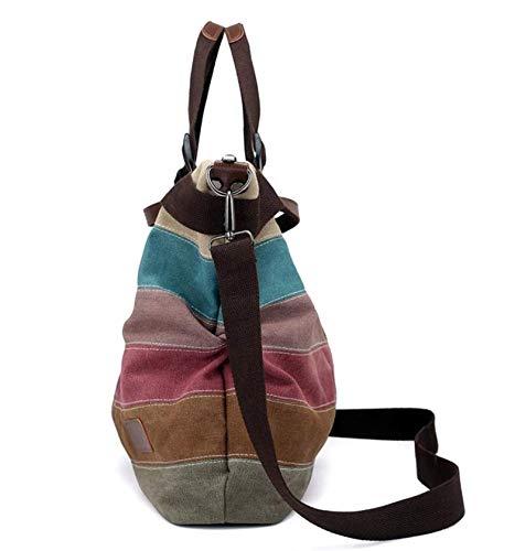 diseño fei Costuras Wei Bolso Mujer para Iris Arco de Bandolera con y 8w4aw