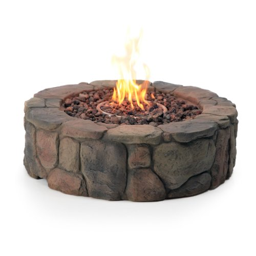 Red Ember 36 in. Clarksville Propane Campfire Fire Pit ...