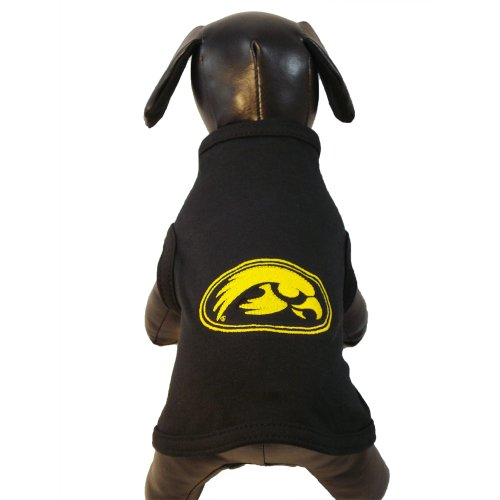 NCAA Iowa Hawkeyes Cotton Lycra Dog Tank Top, X-Small