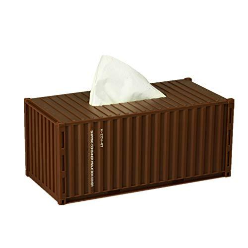 Jonerytime Container Tissue Box Case Tissue Seat Type Napkin Holder Paper Storage Cover (Coffee) from Jonerytime_ Home & Garden