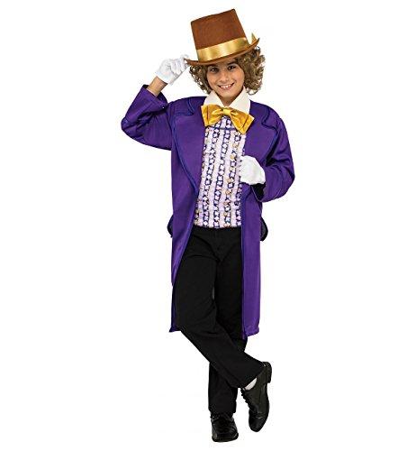 Rubie's Costume Kids Willy Wonka & The Chocolate Factory Willy Wonka Value Costume, (Charlie Costume Charlie Chocolate Factory)