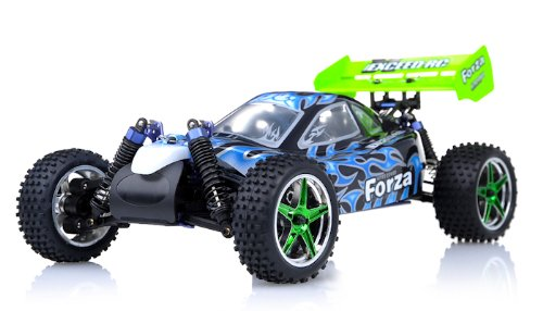 1/10 2.4Ghz Exceed RC Forza .18 Engine RTR Nitro Powered Off Road Buggy Fire BlackSTARTER KIT REQUIRED AND SOLD SEPARATELY ()