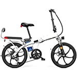 """41rkH1sRVdL. SS150 Alta velocità 20"""" a scomparsa / acciaio al carbonio Materiale Città bici elettrica assistita elettrica di sport della bicicletta della montagna della bicicletta 7 Shifting sistema con batteria al liti"""