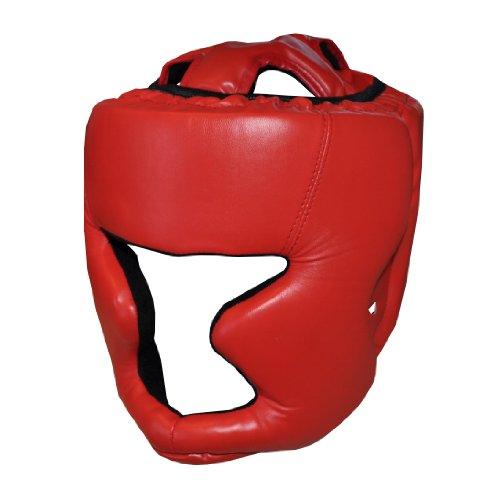 Red Adult Boxing Head Guard Full Face Helmet -MMA, Martial Arts, Thai