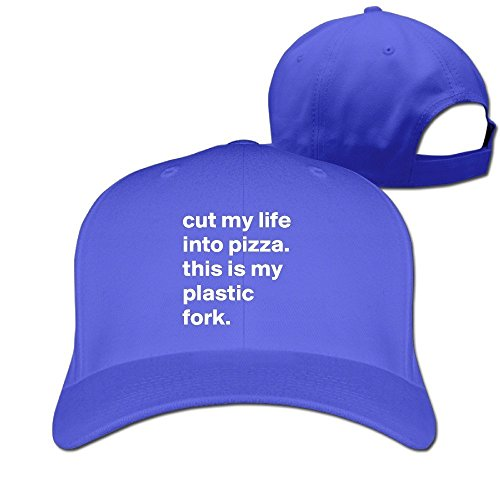 Price comparison product image Runy Custom Cut My Life Into Pizza Adjustable Hunting Peak Hat & Cap RoyalBlue