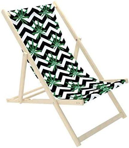 Novamat – Tumbona de jardín de madera, plegable, tumbona para relajarse, silla para la playa, Hojas 3.: Amazon.es: Hogar