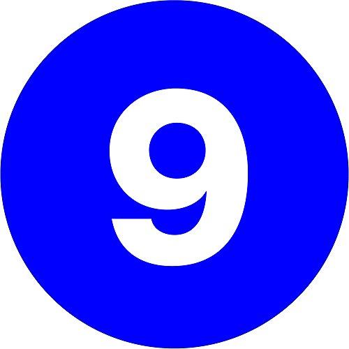 Tape Logic TLDL6759 Number Labels,9'', 1'' Circle, Dark Blue, 1 Roll of 500 Labels by Tape Logic