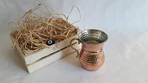 mered Pure Copper Mug for Drinkers Christmas GIFT ()