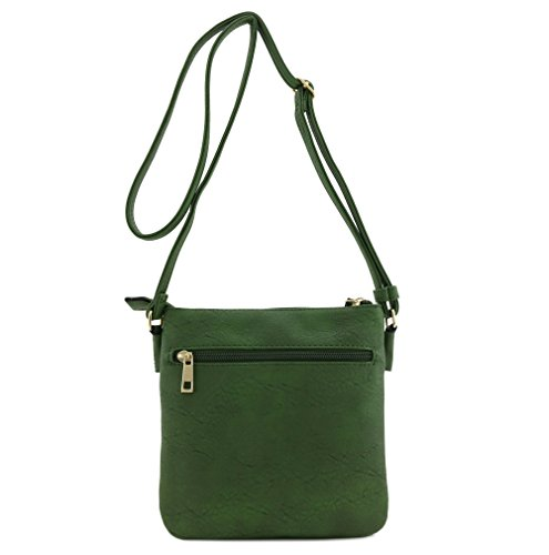 Pocket Multi Crossbody Bag Functional Olive Zip qEdUBxWwf