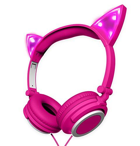 Polaroid PHP240PK Cat Headphones Light up With Pink LED, Cat Headphones for - Polaroid Online