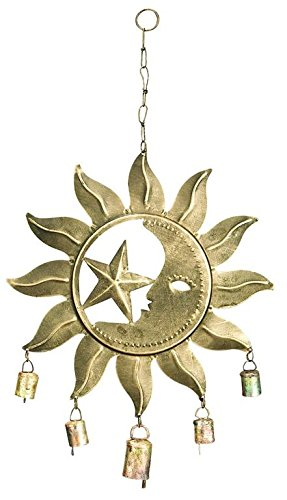 Deco Metal Celestial Wind Chime with Bells