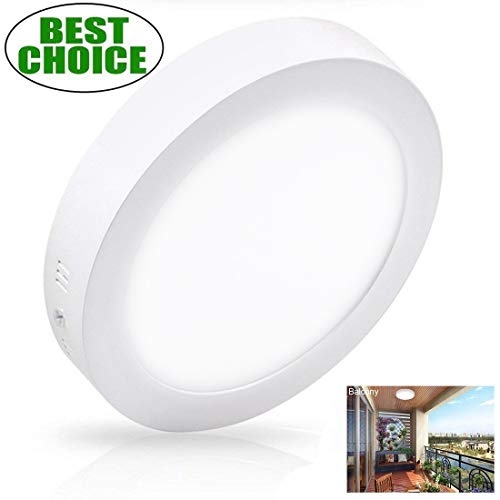 Ceiling Lite Fixture - Surface Mounted Ceiling Lights 18W LED Flush Mount Ceiling Light Round 8.86