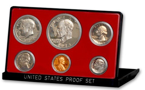 1973 S US 6 Piece Proof Set In original packaging from mint Proof ()