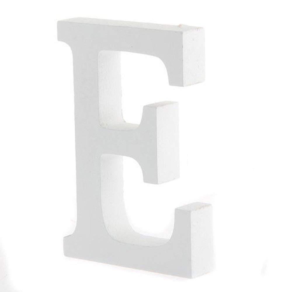 tiendas etc Small Blanco fiestas bodas madera Altura 8/cm Bigboba letras de madera estilo retro de la A a la Z para decoraci/ón en el hogar bares