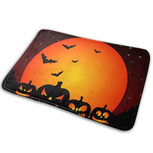 Miniisoul Doormat Entrance Floor Rug Halloween Bats and