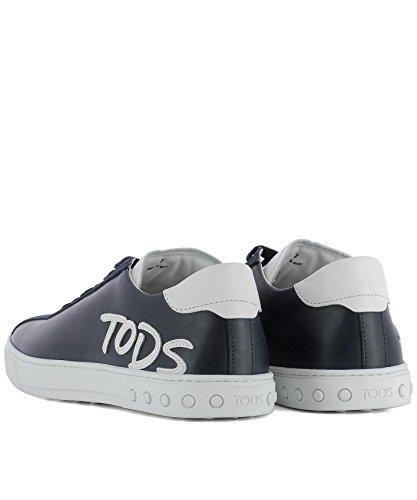 Tods Herren Xxm0xy0y170ixm0zwr Blau Leder Sneakers