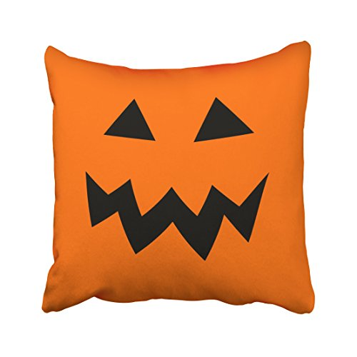 Accrocn Orange Halloween Pumpkin Head Face Throw Pillow Covers Cushion Cover Case 20x20 Inches Pillowcases One Sided