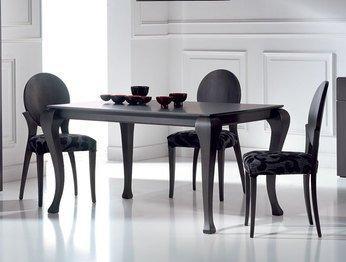Table de salle à manger rectangulaire contemporaine avec ...