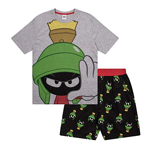 Looney Tunes Marvin The Martian Official Gift Mens Short Pajamas Large]()