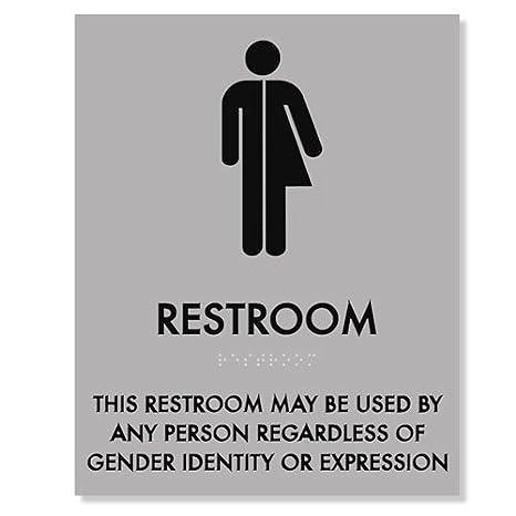 Amazon com : Restroom Sign regardless of Gender Identity 8