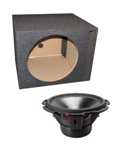 "NEW ROCKFORD FOSGATE P3D4-15 15"" 1200 Watt 4-Ohm Car Audio Subwoofers + Sub Box"