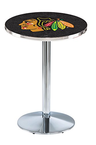 Holland Bar Stool L214 NHL Chicago Blackhawks (Black Background) Licensed Pub Table, 28