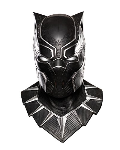 Rubie's Costume Co. Men's Captain America: Civil War Panther Overhead Latex Mask, Black, One Size