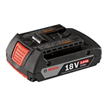 Bosch BAT612 18-volt Lithium-Ion 2.0 Ah Slim Pack Battery with Digital Fuel Gauge