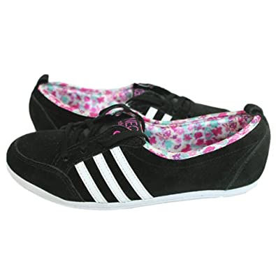 Adidas Piona Sneaker Schuhe Damen Leder schwarz
