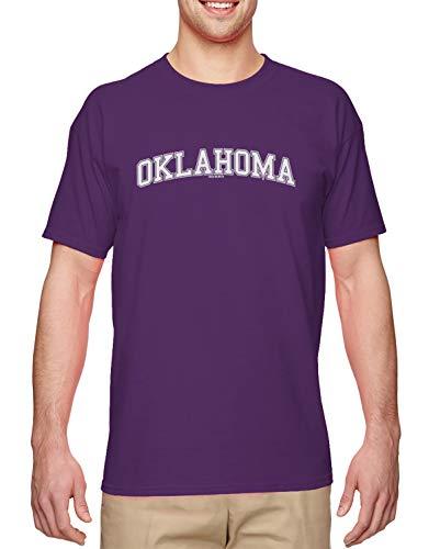Oklahoma - State School University Sports Men's T-Shirt (Purple, Medium)