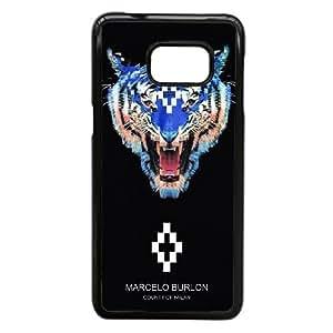 MARCELO BURLON 14 funda Samsung Galaxy S6 funda caso Edge Plus teléfono celular cubre, funda del teléfono celular de plástico negro
