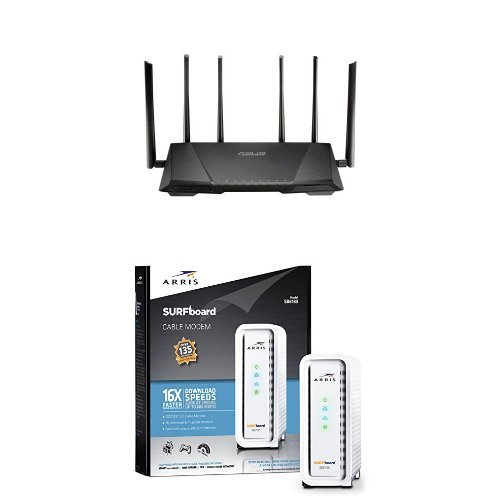 ASUS RT-AC3200 Tri-Band Wireless Gigabit Router & ARRIS SURF