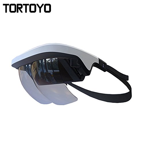 TORTOYO 2018 New Augmented Reality AR Glasses 90 Degree Virtual Reality 3D Gaming Helmet Device for iOS Android Phone PK VR Box (White)