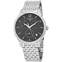 Tissot Men's T063.617.11.067.00 Stainless Steel Bracelet Chronograph Watch with Gray Dial and Date