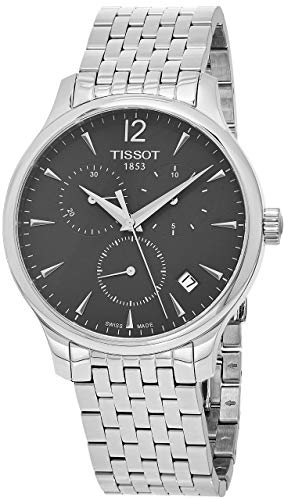 Tissot Men's T063.617.11.067.00 Stainless Steel Bracelet Chronograph Watch with Gray Dial and -