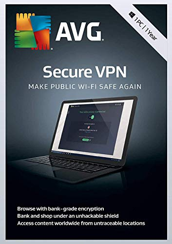 AVG Secure VPN   1 PC, 1 Year [PC/Mac Download]