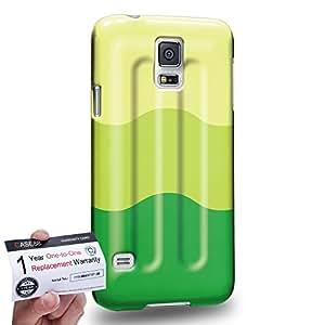 Case88 [Samsung Galaxy S5] 3D impresa Carcasa/Funda dura para & Tarjeta de garantía - Art Hand Drawing Melon Flavor Ice Pop