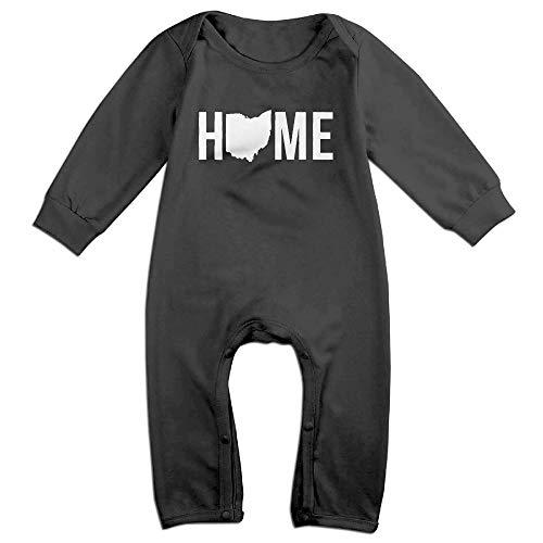 Cotton Onesie Ohio (Home State - Ohio Long Sleeve Infant Baby Bodysuits Cotton Boys Girls Romper Bodysuit Onesies)