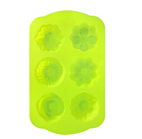Chawoorim Silicone Soap Mold Flexible Soap Molds Silicon Loaf for Making Hand Made Soap Bar Homemade Lotion Bars Bath Bombs Spring Flower Shape 6cavity