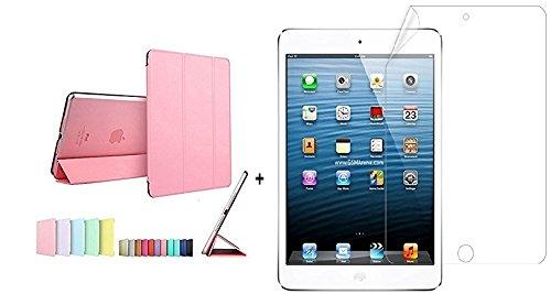Go Crazzy Smart Translucent Back Flip Case for Apple iPad Mini / iPad Mini 2 with Glossy Screen Guard  Pink