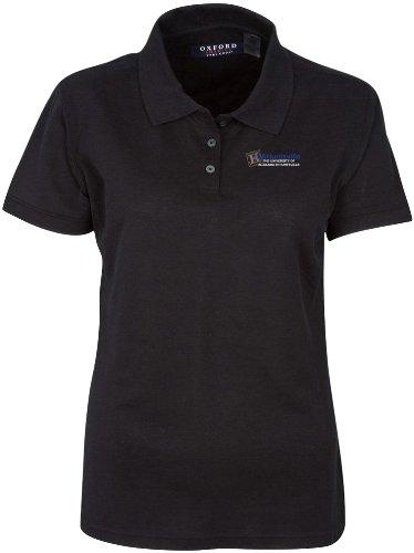 University Classic Pique Polo Shirt - NCAA University of Alabama Huntsville Women's Ladies' Classic Pique Polo, Black, X-Large