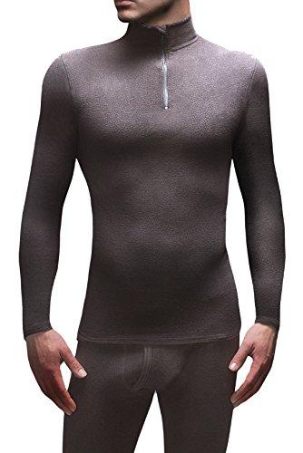 Wärme Holders Mens 1 Packung SockShop Micro Radunterhemd Langarm Top Schwarz