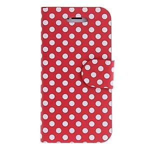 compra Puntos redondos PU caso completo del cuerpo con el soporte para el iPhone 5/5S (colores surtidos) , Rosa